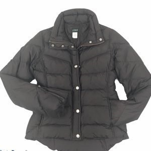 J.CREW Puffer Down Fill Quilted Jacket brown